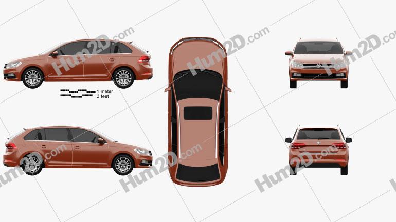 Volkswagen Gran Santana 2018 car clipart