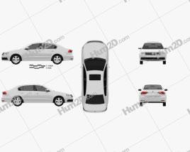 Volkswagen Lavida sedan 2015 car clipart