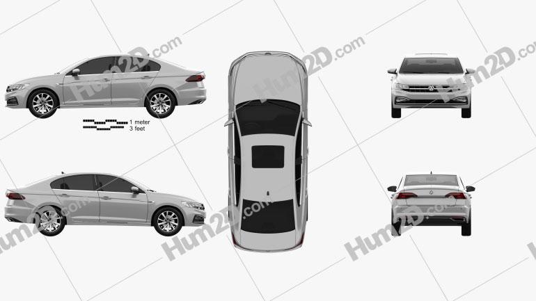 Volkswagen Bora 2019 car clipart