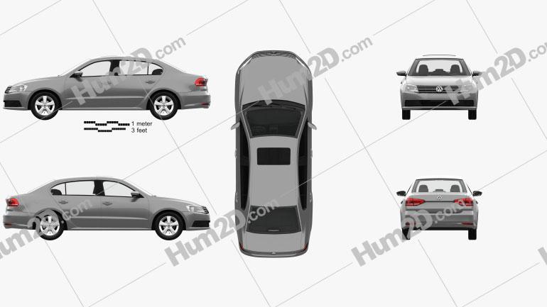 Volkswagen Lavida sedan with HQ interior 2015 car clipart