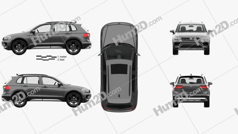 Volkswagen Tiguan Off-road with HQ interior 2015 car clipart