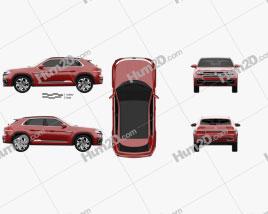 Volkswagen Atlas Cross Sport 2018 car clipart