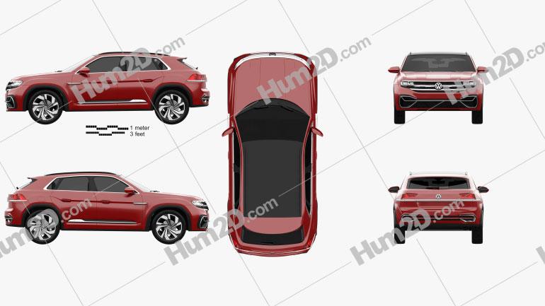 Volkswagen Atlas Cross Sport 2018 Clipart Image
