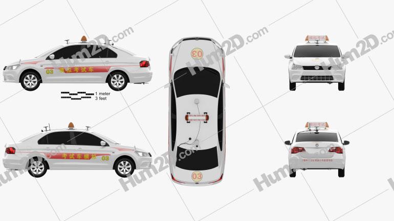 Volkswagen Jetta CN-specs Taxi 2013 car clipart
