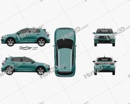 Volkswagen T-Cross R-Line 2019 car clipart