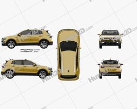 Volkswagen T-Cross 280 CN-spec 2019 car clipart