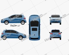 Volkswagen Fox Highline 2014 car clipart