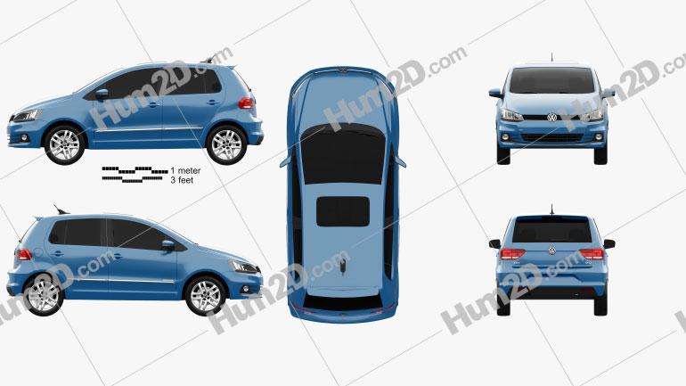 Volkswagen Fox Highline 2014 Clipart Image