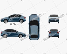 Volkswagen Ameo 2016 car clipart