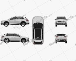 Volkswagen Tayron R-Line 2018 car clipart
