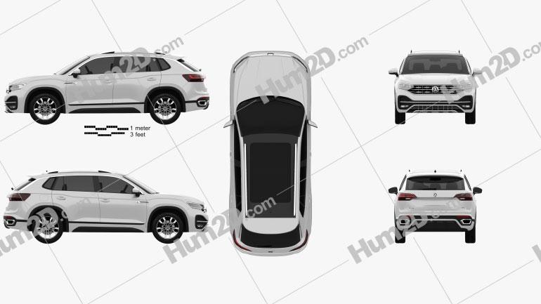 Volkswagen Tayron R-Line 2018 Clipart Image