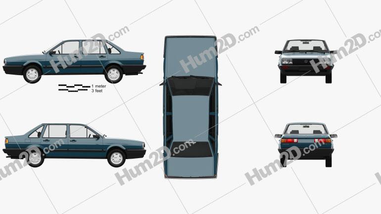 Volkswagen Santana CN-spec with HQ interior 1985 car clipart