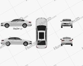 Volkswagen Passat PHEV CN-spec 2019 car clipart