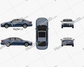 Volkswagen Jetta SEL Premium US-spec 2018 car clipart