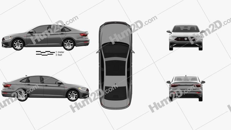 Volkswagen Jetta GLI US-spec 2018 car clipart