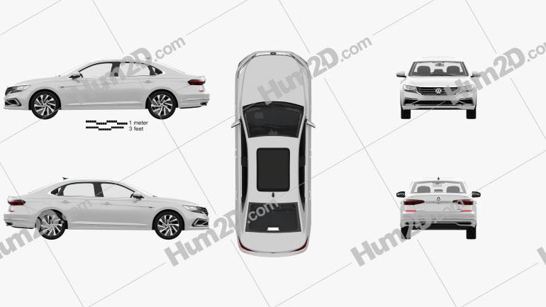 Volkswagen Passat PHEV CN-spec with HQ interior 2019 car clipart