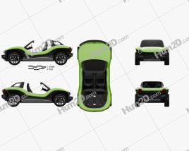 Volkswagen ID Buggy 2019 car clipart