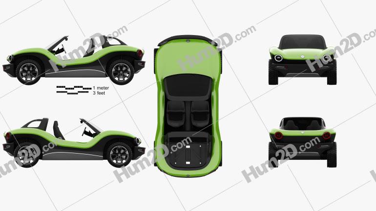 Volkswagen ID Buggy 2019 Clipart Image