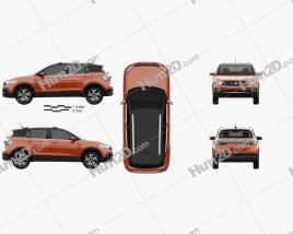 Volkswagen T-Cross Highline 2019 car clipart