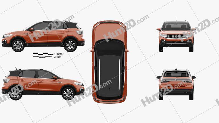 Volkswagen T-Cross Highline 2019 Clipart Image