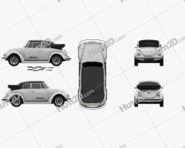Volkswagen e-Beetle 2019 car clipart