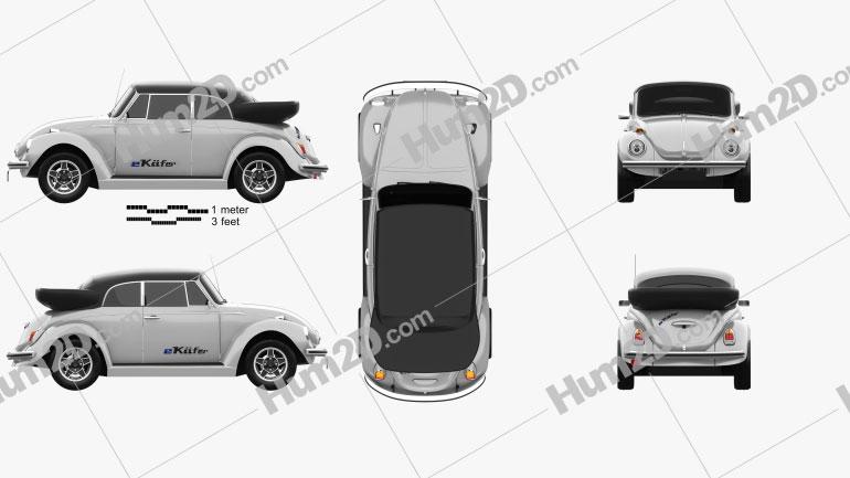 Volkswagen e-Beetle 2019 Clipart Image