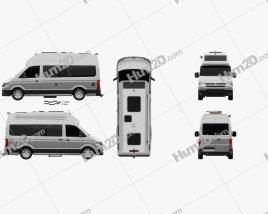 Volkswagen Crafter Grand California 600 2019 clipart