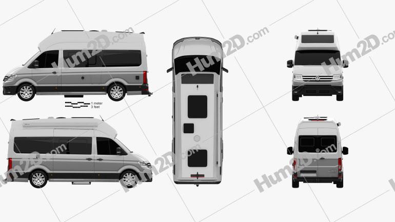 Volkswagen Crafter Grand California 600 2019 Clipart Image