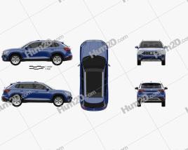 Volkswagen Tayron 2019 car clipart