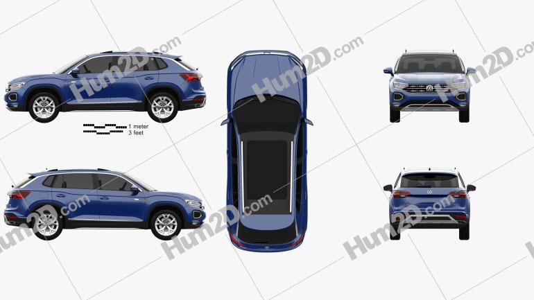 Volkswagen Tayron 2019 Clipart Image