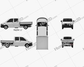 Volkswagen Transporter Double Cab Pickup 2019 car clipart