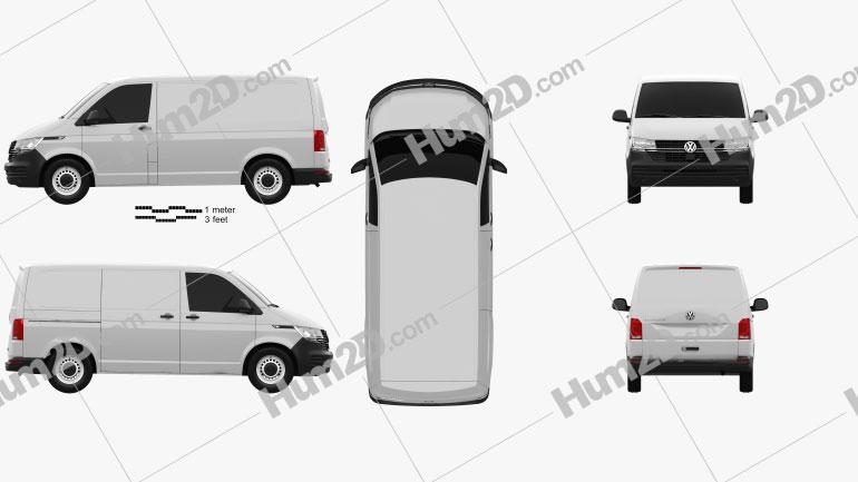 Volkswagen Transporter Panel Van Startline 2019 clipart