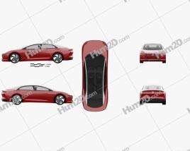 Volkswagen ID.Vizzion 2018 car clipart