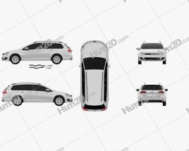 Volkswagen Golf variant Trendline 2015