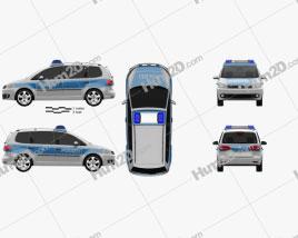 Volkswagen Touran Police Germany 2011 clipart