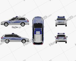 Volkswagen Golf variant Police Germany 2015