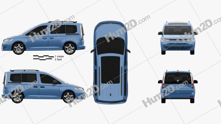 Volkswagen Caddy Life 2020 clipart