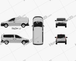 Volkswagen Caddy Maxi Panel Van 2020 clipart