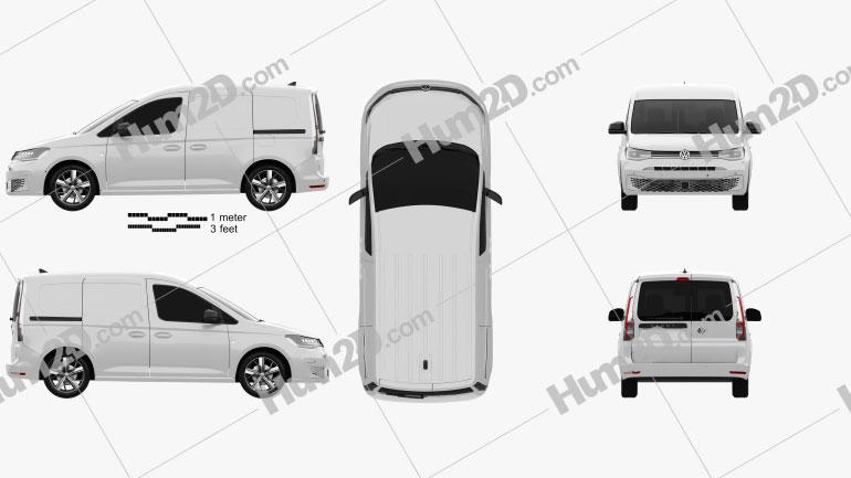 Volkswagen Caddy Panel Van 2020 clipart