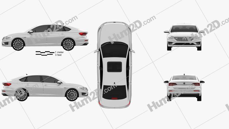 Volkswagen E-Lavida 2018 car clipart
