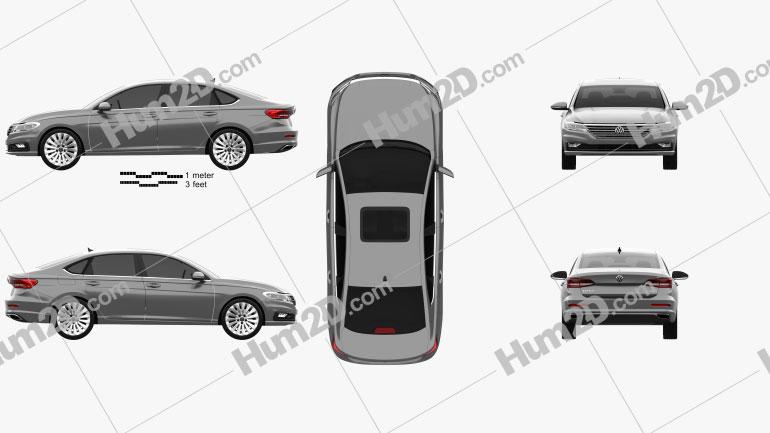 Volkswagen Lavida 2019 car clipart