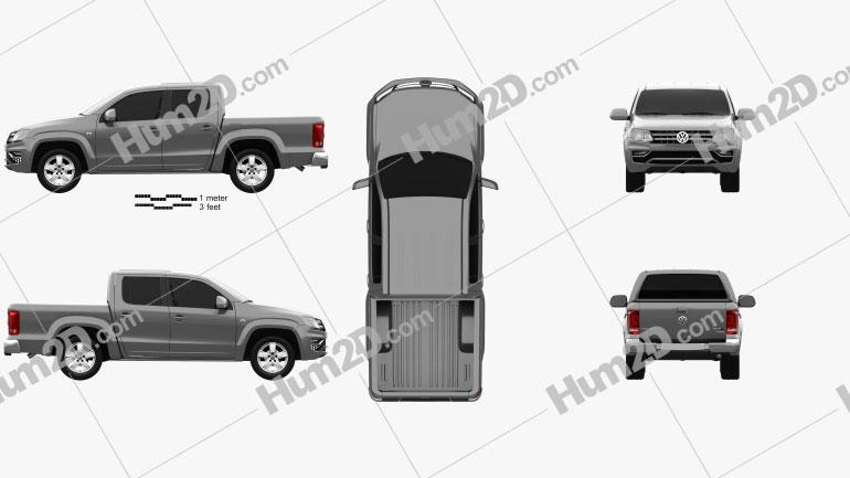 Volkswagen Amarok Crew Cab 2016 car clipart