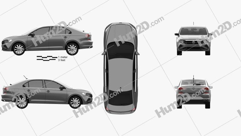 Volkswagen Polo CIS-spec sedan 2020 car clipart