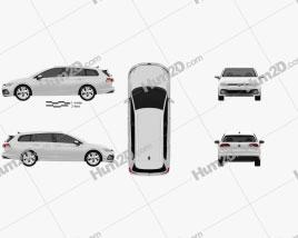 Volkswagen Golf variant 2020 car clipart