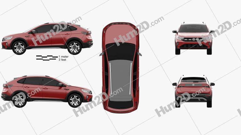 Volkswagen Nivus BR-spec 2021 car clipart