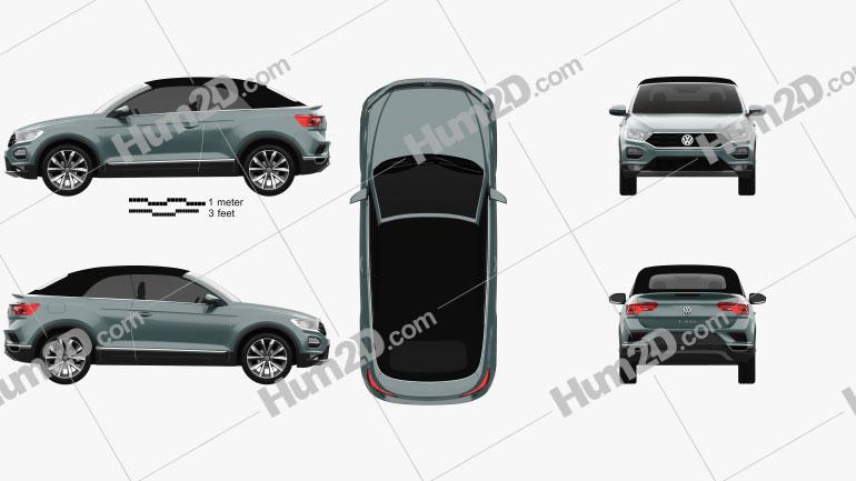 Volkswagen T-Roc cabriolet 2020 Clipart Image