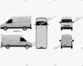 Volkswagen E-Crafter Furgão L1H2 2017 clipart