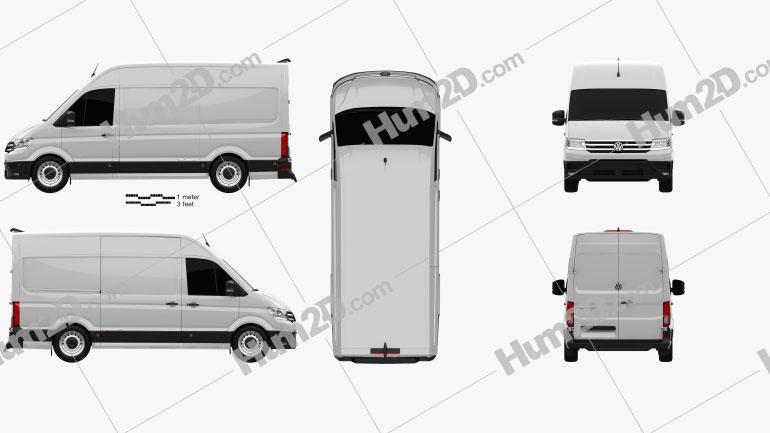 Volkswagen E-Crafter Panel Van L1H2 2017 clipart