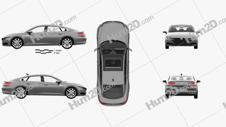 Volkswagen Arteon Elegance com interior HQ 2017 car clipart