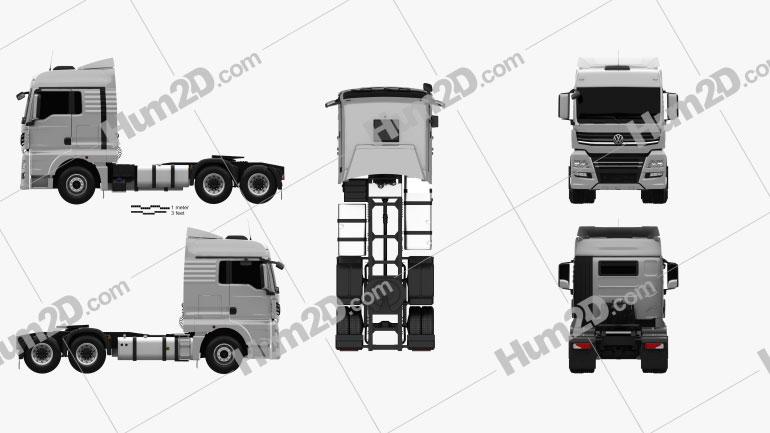 Volkswagen Meteor Tractor Truck 2020 Clipart Image